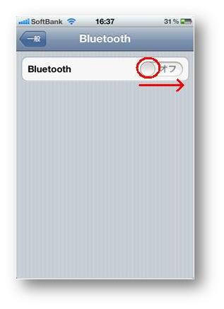 オフの場合は、ボタンを押したままスライドしてオンに変更してください。