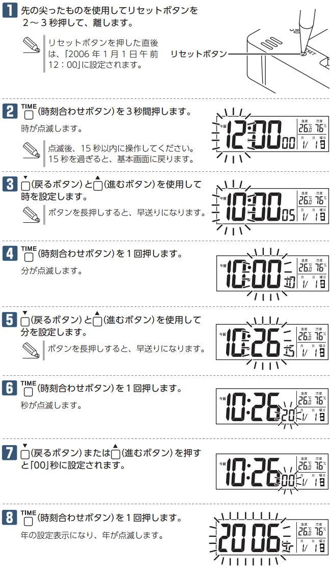 電波掛け時計の時刻の合わせ方 - BIGLOBEなんで …