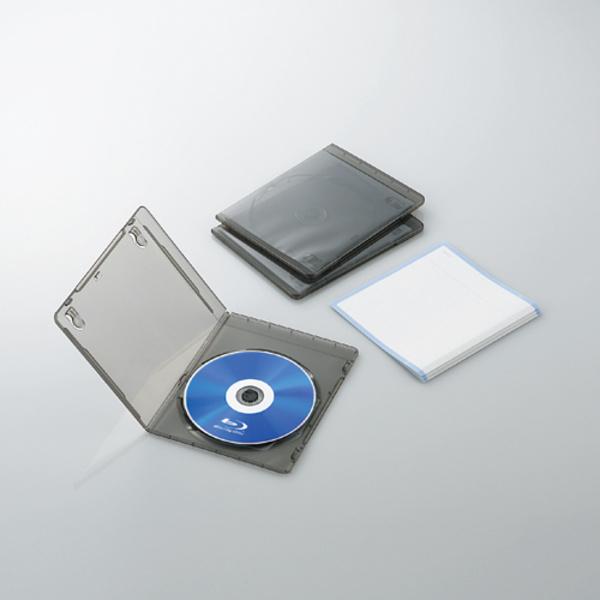 スリムBlu-rayディスクケース:CCD-BLUS103CBK [エレコム]