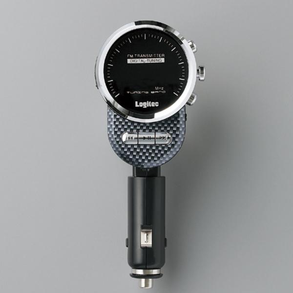 車載用FMトランスミッター カーボン:LAT-FM311UCA [ロジテック]【送料無料】