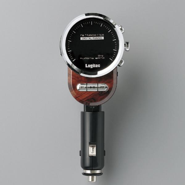 車載用FMトランスミッター ウッド:LAT-FM311UWD [ロジテック]【送料無料】