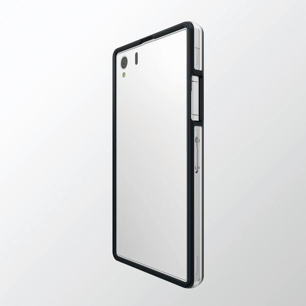 phu kien xperia z1, phu kien sony Xperia Z1, op vien cho xperia z1, opvien chong soc Xperia Z1: Ốp viền Sony Xperia Z1 HyBrid Bumper Elecom Nhật Bản