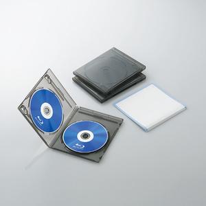 Blu-rayディスクケース(2枚収納タイプ)(CCD-BLU203CBK)