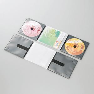 CD/DVD用スリム収納ソフトケース(CCD-DP2C10BK)