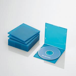 Blu-ray/DVD/CDケース(スリム/PP/1枚収納)(CCD-JPCS10CBU)