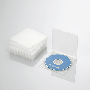 Blu-ray/DVD/CDケース(スリム/PP/1枚収納)(CCD-JPCS10CR)