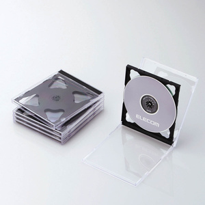 Blu-ray/DVD/CDケース(標準/PS/2枚収納)(CCD-JSCNW5BK)