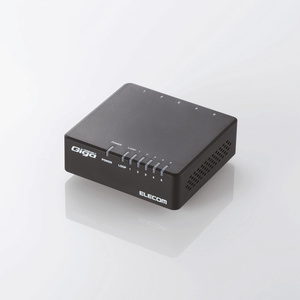 1000BASE-T対応 スイッチングハブ(5ポート・ブラック) (EHC-G05PA-B-K)