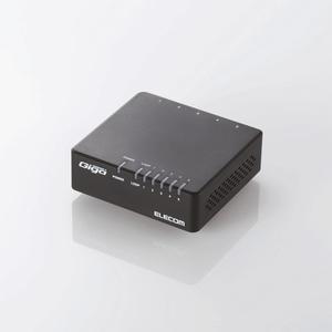 1000BASE-T対応 スイッチングハブ(5ポート・ブラック・マグネット付) (EHC-G05PA-JB-K)