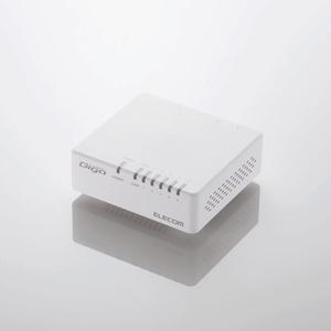 1000BASE-T対応 スイッチングハブ(5ポート・ホワイト・マグネット付)