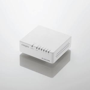 1000BASE-T対応 スイッチングハブ(5ポート・ホワイト)