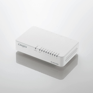 1000BASE-T対応 スイッチングハブ(8ポート・ホワイト)