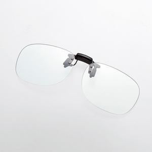 ブルーライト対策メガネ(跳ね上げクリップオン)(G-BUG-CF01LBK)