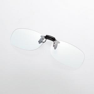 ブルーライト対策メガネ(跳ね上げクリップオン)(G-BUG-CF01MBK)