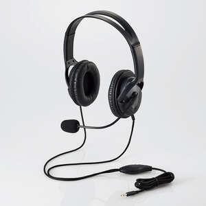 ヘッドセット(4極両耳大型オーバーヘッド)(HS-HP23TBK)