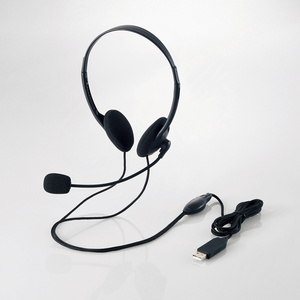 USB headset (both ears small size overhead type) (HS-HP27UBK)