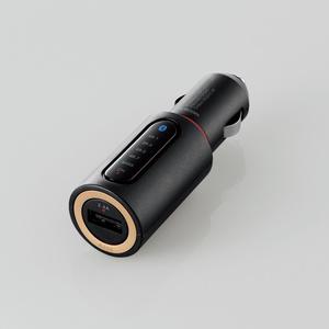 Bluetooth(R)FMトランスミッター(BASS)(LAT-FMBTB01BK)