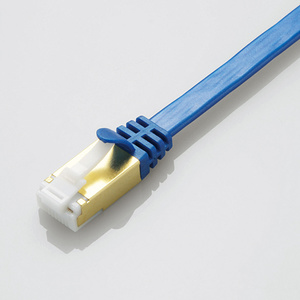 Prevention of nail buckling up flat LAN cable (Cat7 conformity (LD-TWSFT/BM10)