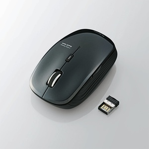 5ボタン BlueLED 静音マウス(M-BL21DBSBK)