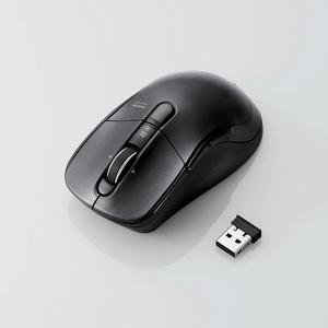 高速スクロールワイヤレスBlueLEDマウス(M-BL23DBBK)