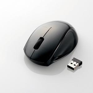 ワイヤレスレーザーマウス(3ボタン)(M-LS14DLBK)
