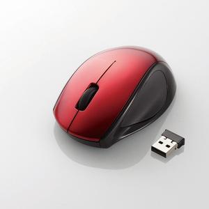 ワイヤレスレーザーマウス(3ボタン)(M-LS14DLRD)