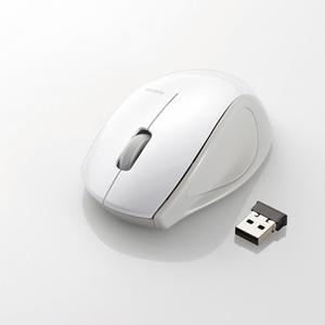 ワイヤレスレーザーマウス(3ボタン)(M-LS14DLWH)