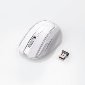 アイドリングストップ機能搭載 5ボタンワイヤレスマウス(M-WK01DBWH)