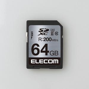 UHS-Ⅱ/U3対応SDXCメモリカード(MF-FS064GU23R)
