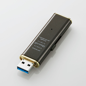 "USB3.0-adaptive sliding USB memory ""Shocolf"" (MF-XWU332GBW)"