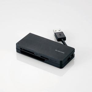 USB3.0対応メモリカードリーダ(ケーブル収納タイプ)(MR3-K012BK)