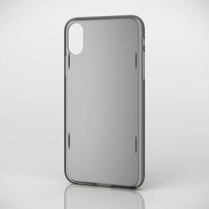 iPhone X用シェルカバー/AQUA(PM-A17XAQBK)