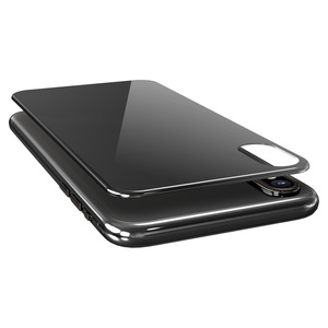 iPhone X用背面フルカバーガラスフィルム(PM-A17XFLGGRUBK)