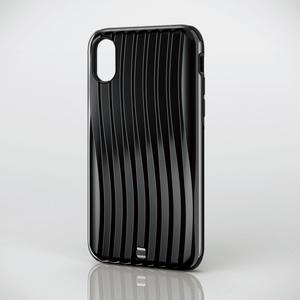 iPhone X用ハイブリッドケース/キャリーバッグ調(PM-A17XHCCBK)