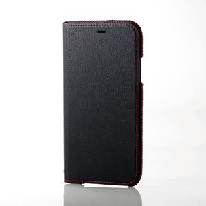 iPhone X用ソフトレザーケース/ステッチ/磁石付(PM-A17XPLFNBK)