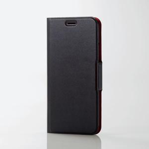 iPhone X用ソフトレザーカバー/薄型/磁石付(PM-A17XPLFUBK)