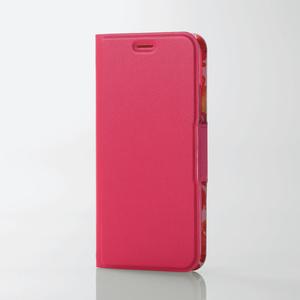 iPhone X用ソフトレザーカバー/薄型/女子向/磁石付(PM-A17XPLFUJPND)