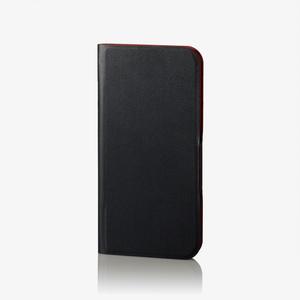 iPhone X用ソフトレザーカバー/薄型/磁石付/スリープ対応(PM-A17XPLFUPBK)