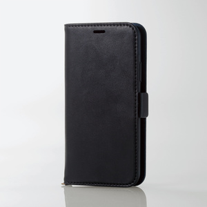 iPhone X用ソフトレザーカバー/磁石付(PM-A17XPLFYBK)