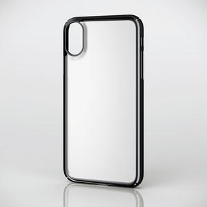 iPhone X用シェルカバー/極み/サイドメッキ(PM-A17XPVKMBK)