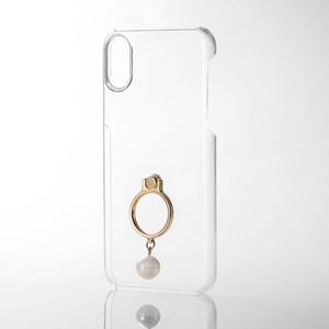 iPhone X用シェルカバー/リング付/女子向/指輪(PM-A17XPVRJ01)