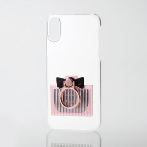 iPhone X用シェルカバー/リング付/ミラー付(PM-A17XPVRM01)