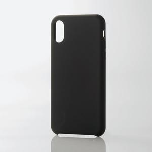 iPhone X用シリコンケース/ハイブリッド(PM-A17XSCHBK)