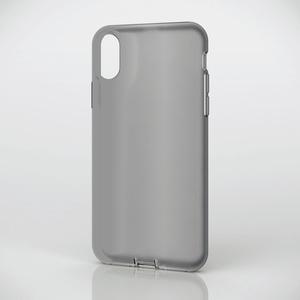 iPhone X用シリコンケース/極み(PM-A17XSCTBK)