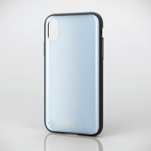 iPhone X用TOUGH SLIM/ガラストップ風/女子向(PM-A17XTSGJBU)