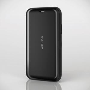 iPhone X用TOUGH SLIM/シェルフラップ(PM-A17XTSSBK)