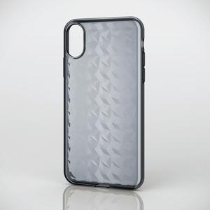 iPhone X用ソフトケース/ダイヤモンドカット(PM-A17XUCJBK)