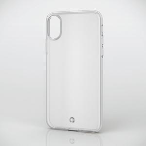 iPhone X用ソフトケース/ストラップホール付(PM-A17XUCTSTCR)