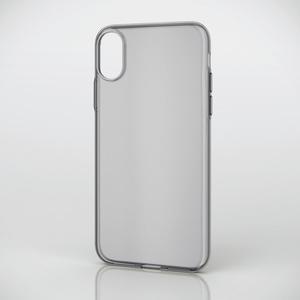 iPhone X用ソフトケース/薄型(PM-A17XUCUBK)
