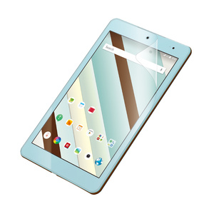 Qua tab QZ8用フィルム/防指紋/光沢(TBA-KYH08FLFANG)
